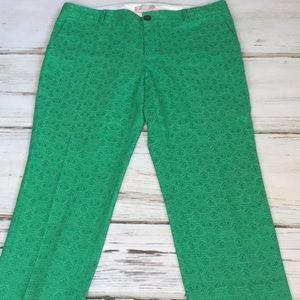 Banana Republic Hampton Pants Green Jacquard 12